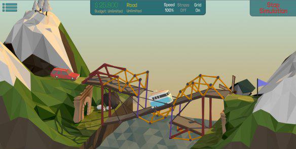 《桥梁建造师》游戏评测7.0分 一款在造桥中的套路与反套路